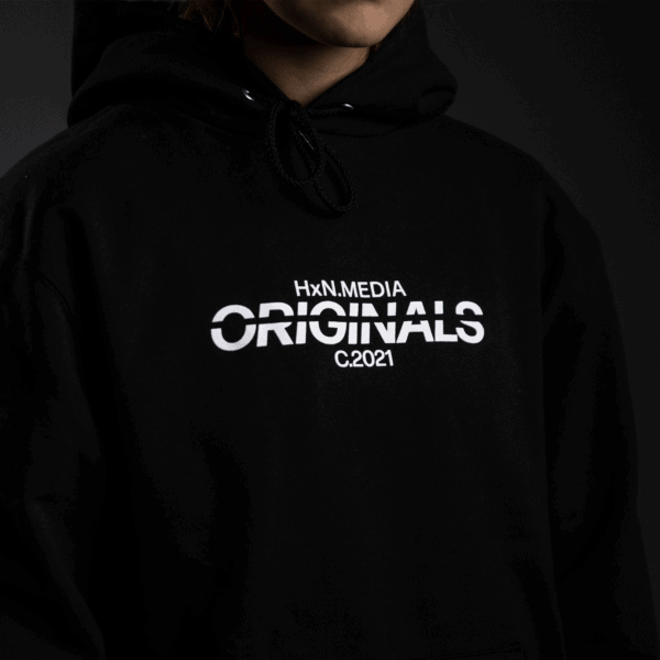 the original hoodie front hxn media